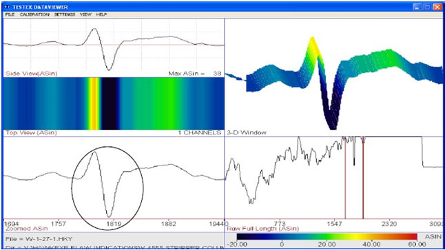 waveform-collected-by-traditional-hawkeye-probe-with-crack-indication